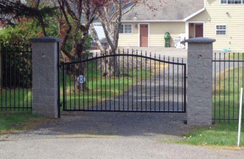 single swinging wrought iron residential gate repair in Morganton NC