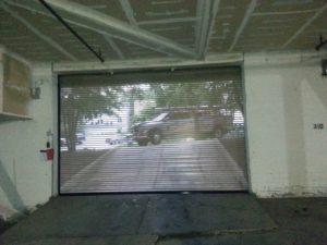 commercial roll up sheet door installed by Garage Door Specialists technicians in Lenoir NC