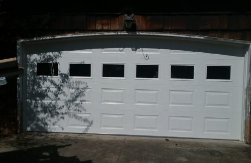 a replaced garage door